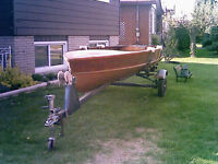 Cedar Boat and Canoe for sale; both 14ft