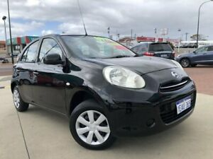 2012 Nissan Micra K13 Upgrade ST Black 4 Speed Automatic Hatchback Victoria Park Victoria Park Area Preview