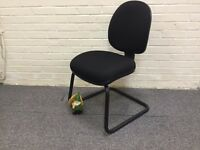 Black Fabric Cantilever Frame Chair