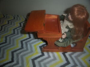 Doll and Desk,Boy Fishing,Girl Doll with teddy Bear,wooden doll. Kingston Kingston Area image 4