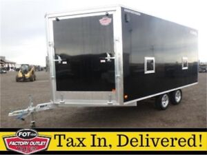-*All-Aluminum*- 8.5 x 18 Enclosed Sled Trailer -*Insulated*-