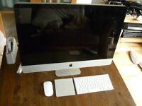 Apple iMac 27 inch i5 Processor 2.66 Ghz 12gb Ram 1TB Logic9 Adobe FinalCutProX/Studio **YOSMITE**