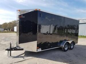 2017 NEW  7x16 7ft high ENCLOSED CARGO TRAILER