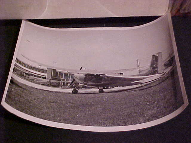 CESSNA AIRCRAFT 10 BY 8 B&W PHOTOGRAPH VINTAGE AIRPLANE CESSNA 180 NO. N41697