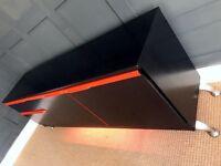 Vintage McIntosh Sideboard / Media Centre, Contemporary Painted Dark Grey & Orange