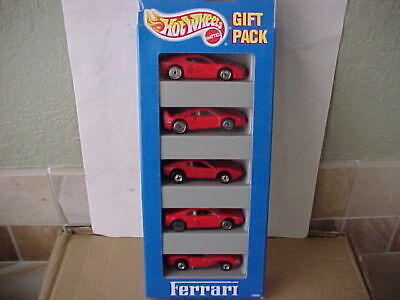 Hot Wheels Ferrari 5 Car Gift Pack with Plastic 308