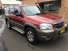 2001 Mazda Tribute Limited Burgundy 4 Speed Automatic 4x4 Wagon Campbelltown Campbelltown Area Preview