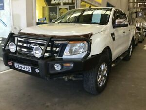 2011 Ford Ranger PX XLT Double Cab White 6 Speed Manual Utility Cardiff Lake Macquarie Area Preview