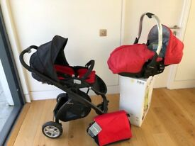 New, Never Used- Casualplay Kudu4 Stroller + Sono Lie Flat Car Seat by Designer Spanish brand