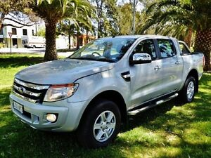 2013 Ford Ranger Highlight Silver Semi Auto Utility Hendon Charles Sturt Area Preview