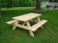 SALE!!! - Hand Crafted Cedar Picnic Tables (delivery available)!