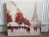 Canvas picture of Paris from Next. Excellent condition. 57cm x 58 cm. Would enhance any wall.