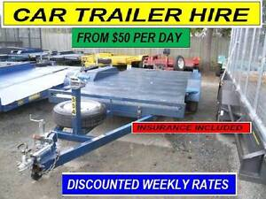 CAR TRAILER HIRE BRISBANE & BOX, CAGED, FLAT  FROM $50 Per 24hrs Brisbane Region Preview