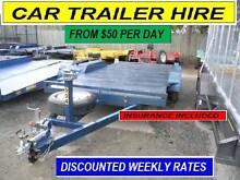 CAR TRAILER HIRE BRISBANE & BOX, CAGED, FLAT  FROM $50 Per 24hrs Brisbane Region Preview