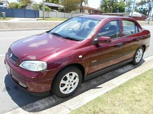 2003 Holden Astra TS MY03 Equipe City Maroon 5 Speed Manual Sedan Slacks Creek Logan Area Preview