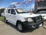 2008 Toyota Hilux KUN26R 08 Upgrade SR (4x4) White 5 Speed Manual Dual Cab Chassis Brooklyn Brimbank Area Preview