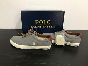 POLO RALPH LAUREN shoes Gery\brown leather - size 11 **NEW**