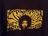 Jimi Hendrix Vintage Short Sleeve T-Shirt - Black & Yellow, Size Small, Unisex