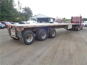 2000 FONTAINE 48 TRIDEM COMBO FLAT BED TRAILER Kitchener / Waterloo Kitchener Area image 2