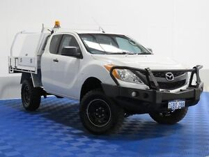 2012 Mazda BT-50 XT (4x4) White 6 Speed Manual Cab Chassis Jandakot Cockburn Area Preview