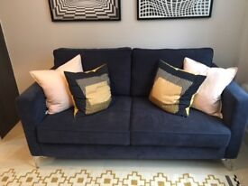 Brand New Sofa Never Been Used - Navy Blue with Cushions