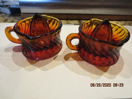 2 VINTAGE MINI GLASS JUICERS