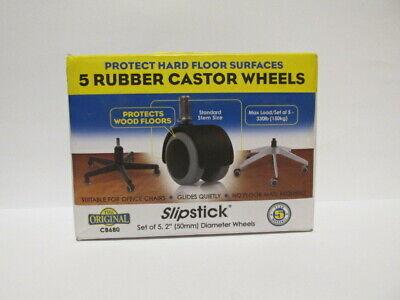 Office Chair Wheels Standard Stem Replacement Rubber Castors 716 Quiet Glide