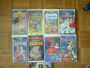 Collection VHS cassette tapes Walt Disney for children