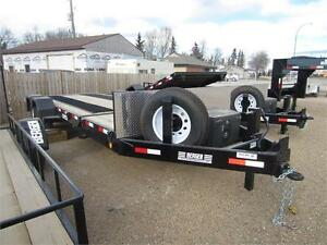 NEW 2016 BERGEN GOOSE-NECK FLAT-DECK TILT TRAILER 20'X80""