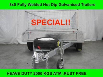 8X5 FULLY WELDED HOT DIP GALVANISED TRAILERS 2000 KG GVM on sale Laverton North Wyndham Area Preview