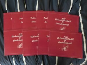 1980 Lincoln Continental Sales Brochure LOT OF 9 Cartier Blass +