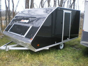 12' SnoPro All Aluminum Enclosed Sled and Quad Trailer