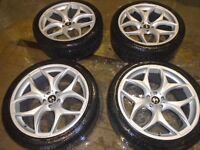 """22"""" ALLOY WHEELS WITH TYRES TO FIT X5/x6/RANGE ROVER ETC"""