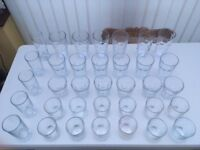 Job Lot of Clear Drinking Glasses (35) Majority are all new
