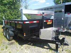 N&N 7x12 black dump trailer - in stock at 2016 prices!