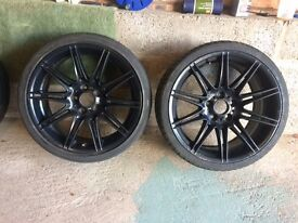 Four x BMW 19 inch rims and tires