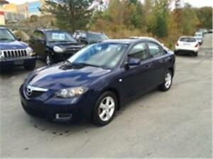2008 Mazda3 GS LOW KMS ,2 YEAR WARRANTY, SECOND SET OF TIRES