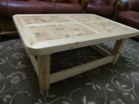 MADE TO ORDER Handmade Wooden Rustic Style Coffee Table