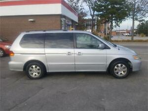 2002 HONDA ODYSSEY EXL SILVER WITH GRAY LEATHER,ALLOYS