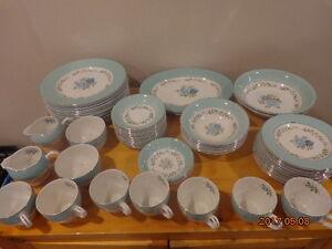 BARRATT'S Delphatic White China: Over 60 Pieces