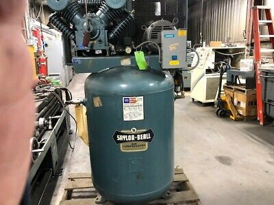 Industrial Air Compressor Saylor Beall Two Stage Model 707 10 Hp