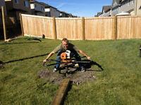 fence holes dug