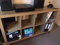 1 x Walnut Finish EXPEDIT Unit with Stands - Vinyl Storage etc