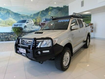 2014 Toyota Hilux KUN26R MY14 SR Double Cab Silver 5 Speed Automatic Utility