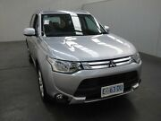 2014 Mitsubishi Outlander ZJ MY14.5 ES (4x2) Silver Continuous Variable Wagon Moonah Glenorchy Area Preview