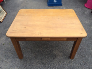 solid wooden table with drawer