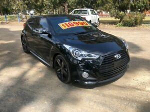 2012 Hyundai Veloster FS2 SR Coupe Turbo Black 6 Speed Manual Hatchback Dandenong Greater Dandenong Preview