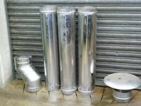 stainless steel flue pipes and terminal