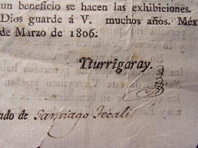1806 mexico decree napoleon invasion spain spanish virrey governor signed france