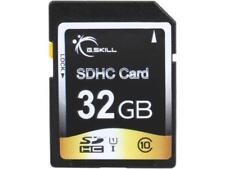 G.Skill 32GB SDHC UHS-I/U1 Class 10 Memory Card (FF-SDHC32GN-U1)